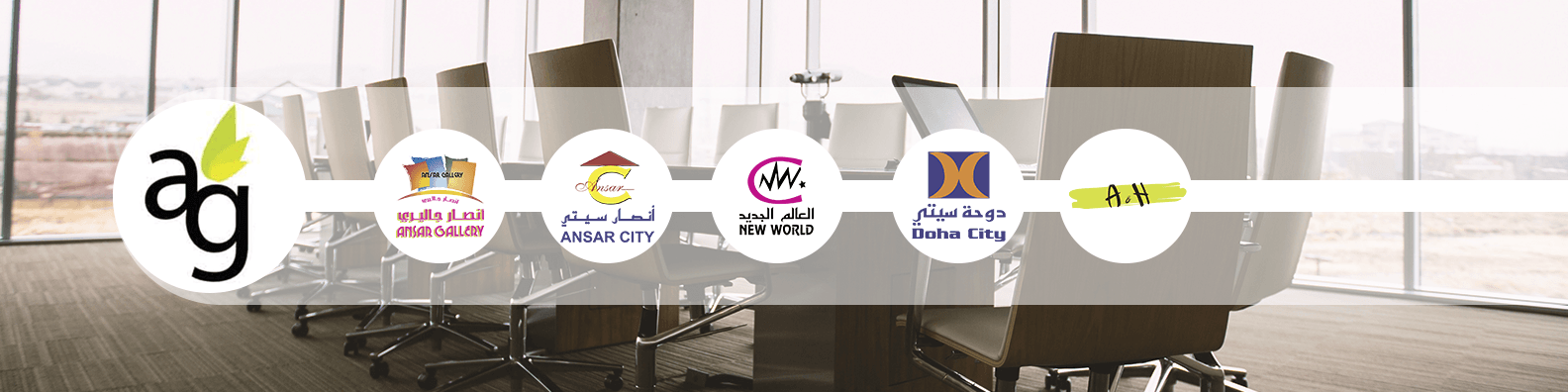 Ansar Group of companies and it's sub brands (Ansar Gallery - Ansar City - New World - Doha City - A&H)