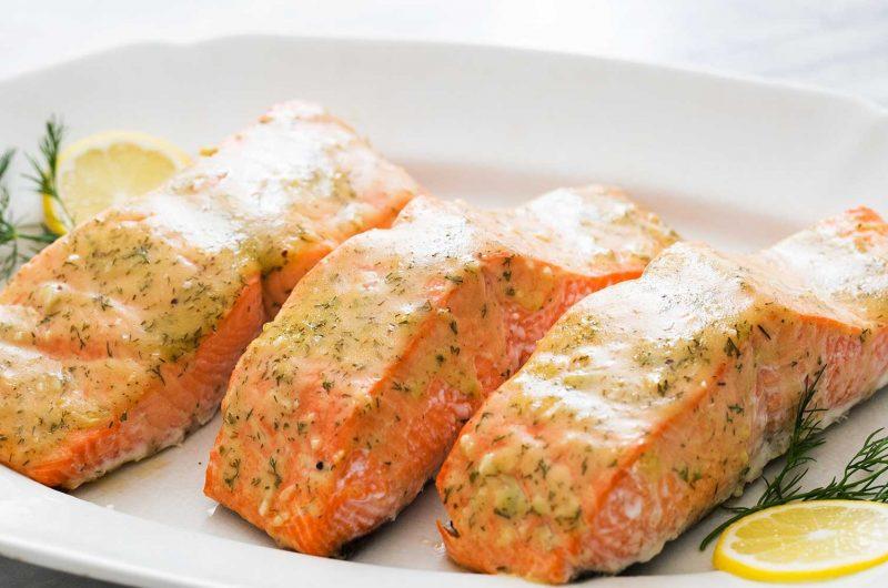 Mustard & Honey Baked Salmon