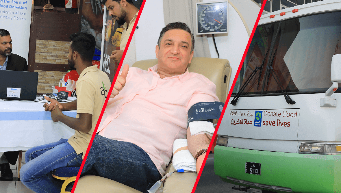 Ansar Gallery blood donation event in Qatar